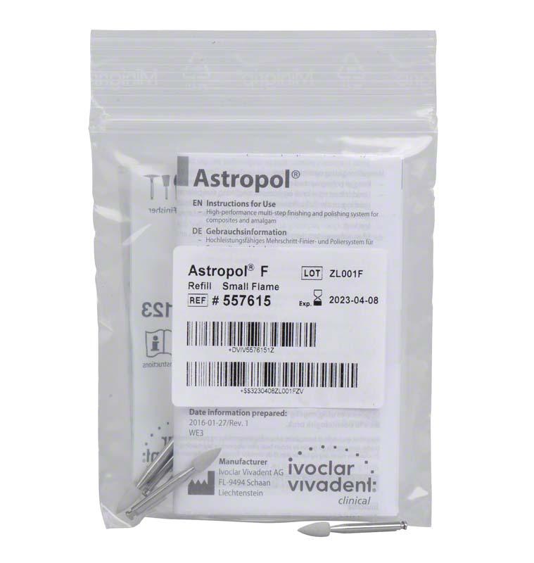 Astropol®  Packung  6 Stück F, grau grob, Figur kleine Flamme