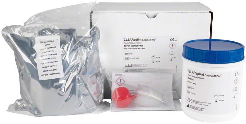 astron® Clearsplint® CAD\CAM Pro  Großpackung  960 g Pulver, 720 g Flüssigkeit