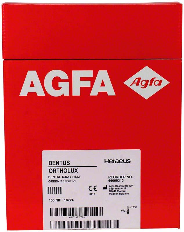 AGFA DENTUS® ORTHOLUX  Packung  100 Stück 18 x 24 cm