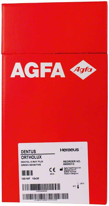 AGFA DENTUS® ORTHOLUX  Packung  100 Stück 15 x 30 cm