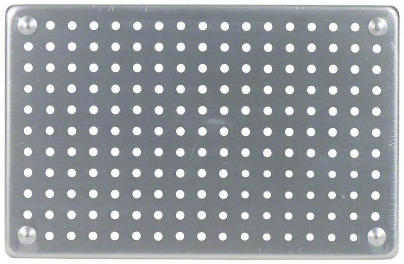 ALUMINIUM TRAY  Stück  Tray silber 28 x 18 cm, perforiert