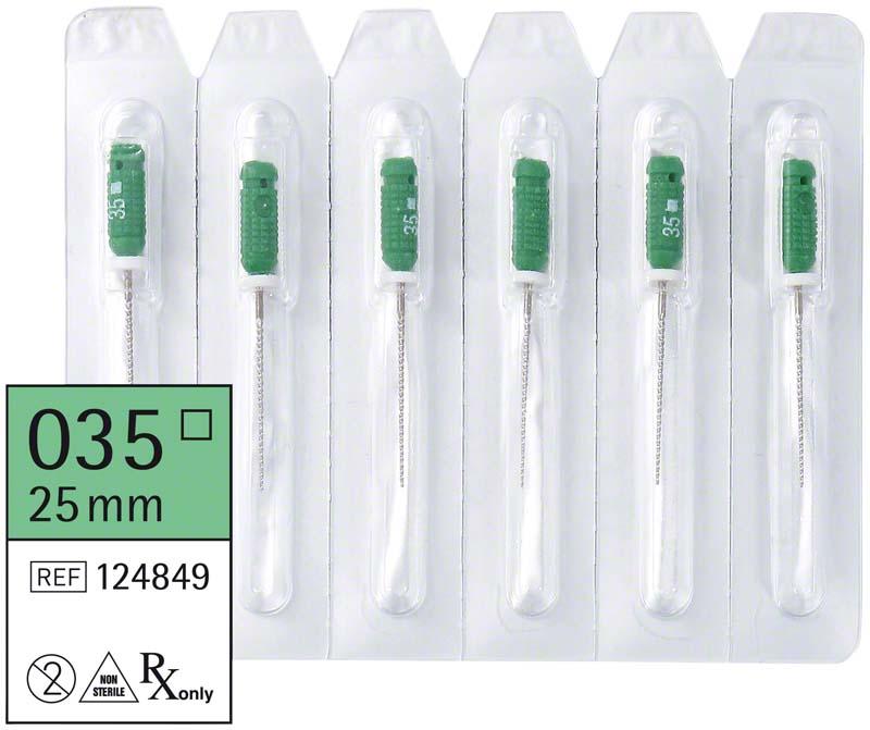 smart K-Feilen  Packung  6 Stück 25 mm ISO 035