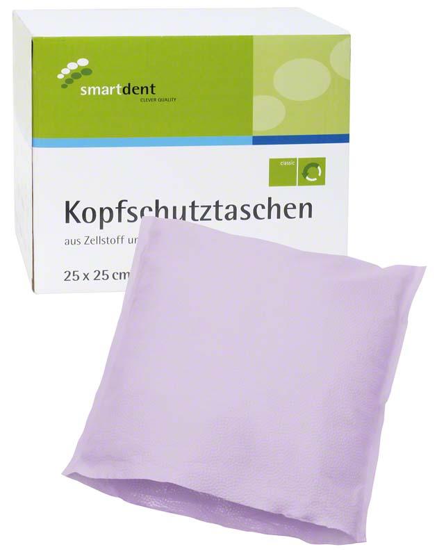 smart Kopfschutztaschen  Karton  500 Stück 25 x 25 cm, lila