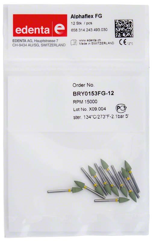 Alphaflex  Packung  12 Stück supergrün, FG, Figur 243, 6 mm, ISO 030