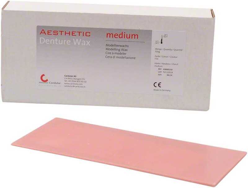 AESTHETIC DENTURE WAX  Packung  500 g medium