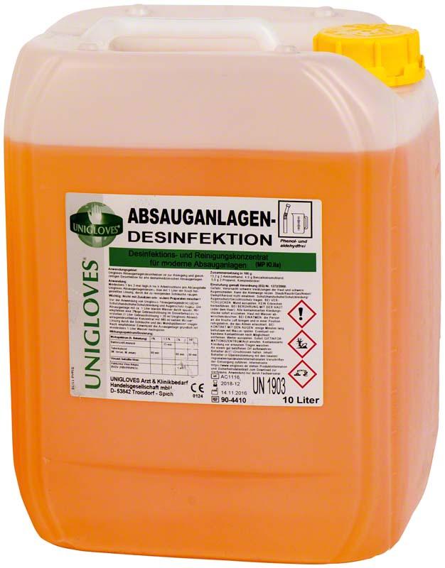 ABSAUGANLAGENDESINFEKTION  Kanister  10 Liter