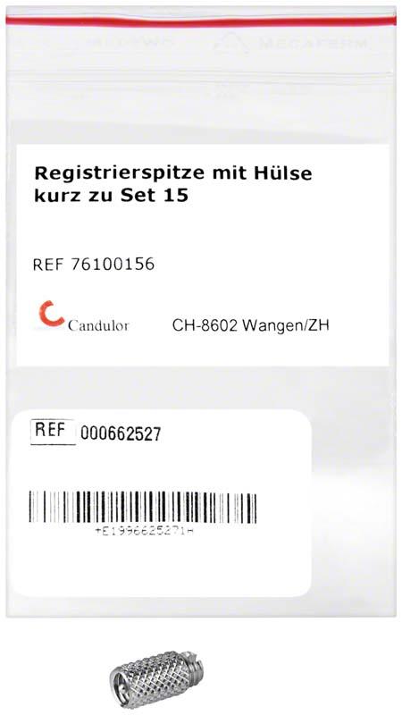Registrierspitze kurz z.Set m.Hülse St