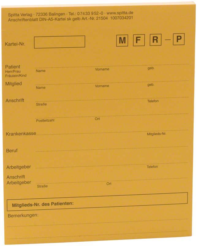 Adressaufkleber DIN A5  Block  50 Stück gelb, A5
