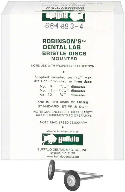 Abbott-Robinson-Bürsten  Packung  144 Stück Nr. 11, x-Hart