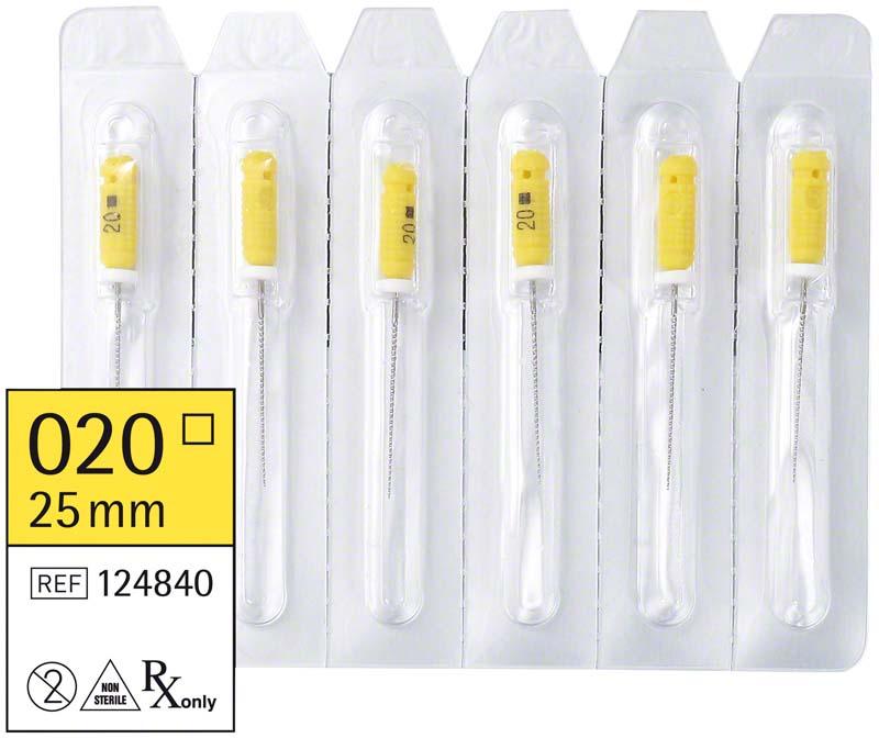 smart K-Feilen  Packung  6 Stück 25 mm ISO 020