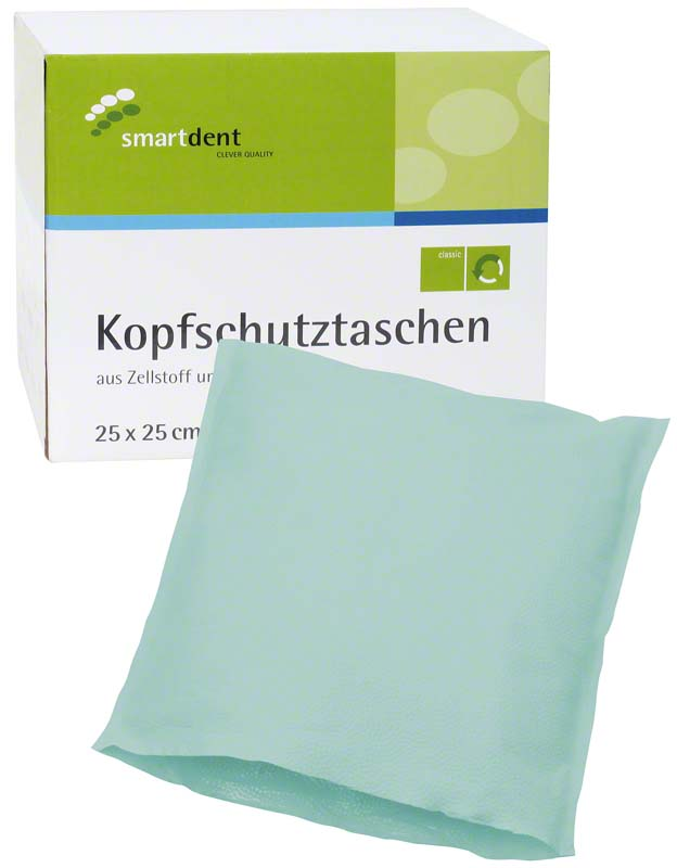 smart Kopfschutztaschen  Karton  500 Stück 25 x 25 cm, grün