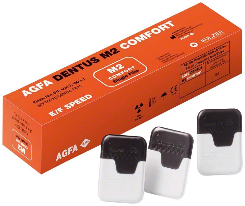 AGFA DENTUS® M2 COMFORT E\F-Film  Packung  150 Singlefilme 3 x 4 cm