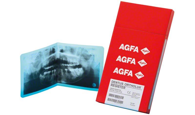 AGFA DENTUS® ORTHOLUX REGISTER  Packung  100 Stück 15 x 30 cm