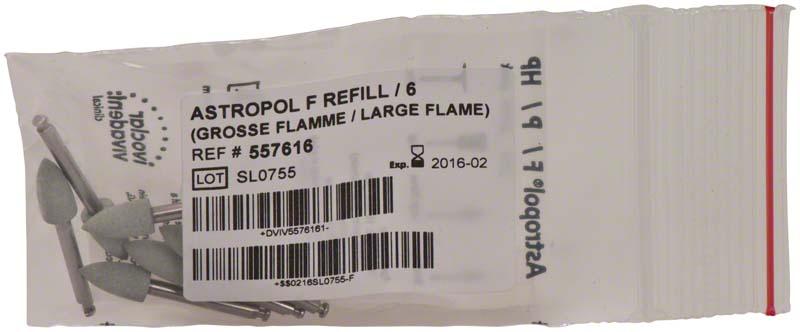 Astropol®  Packung  6 Stück F, grau grob, Figur große Flamme