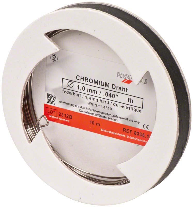 CHROMIUM Spulendraht  Laborpackung  10 m  Stärke 1 mm, federhart