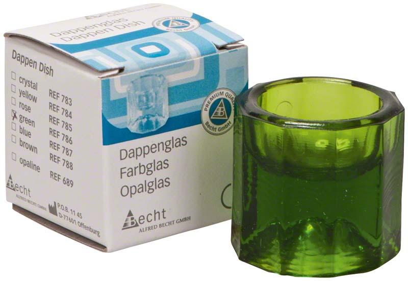 Dappengläser aus Buntglas  Stück  grün