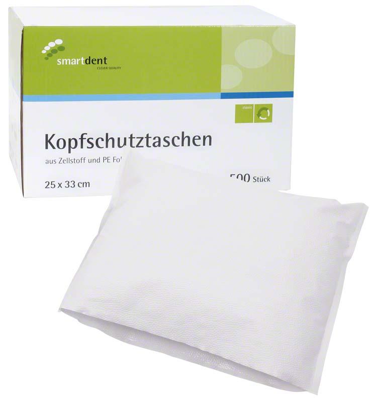 smart Kopfschutztaschen  Karton  500 Stück 25 x 33 cm, weiß