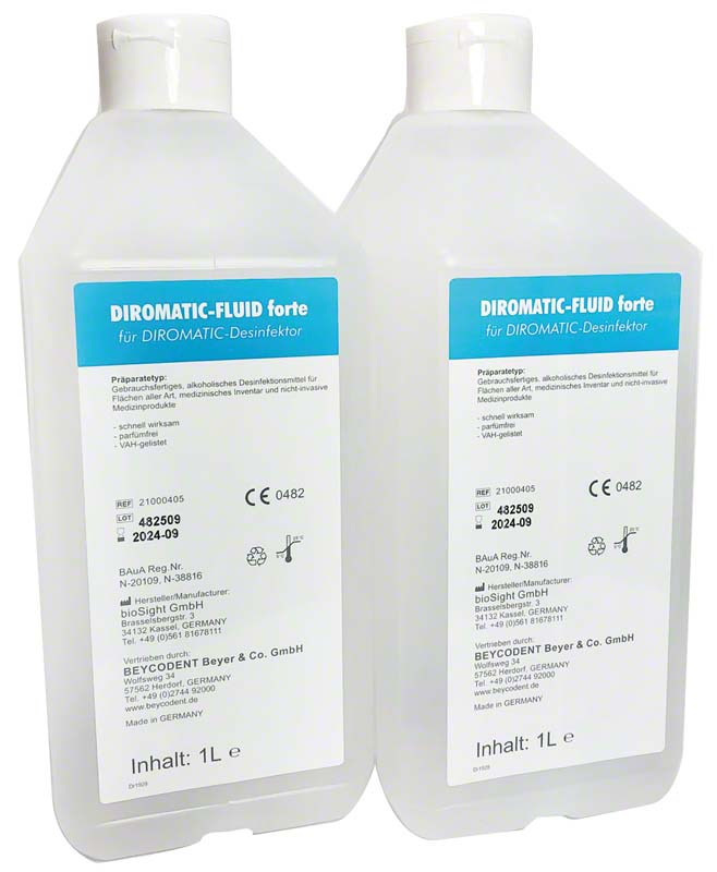 DIROMATIC®-FLUID forte  Karton  2 x 1 Liter Flasche