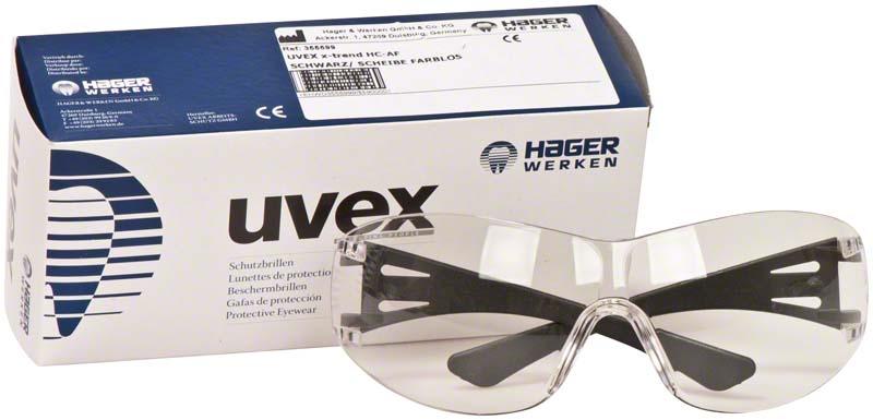 Hager iSpec® X Fit  Stück  Fassung schwarz, Scheibe farblos, UV-Bereich 2-1,2