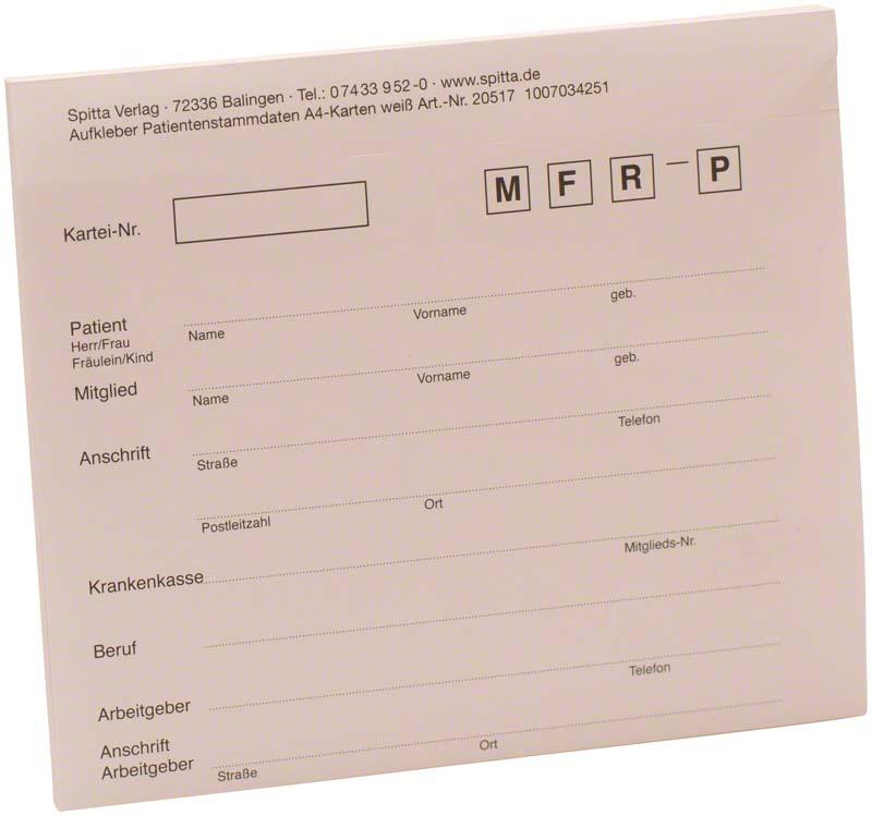 Adressaufkleber DIN A4  Block  50 Stück weiß