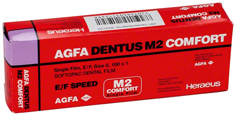 AGFA DENTUS® M2 COMFORT E\F-Film  Packung  100 Singlefilme 2 x 3 cm