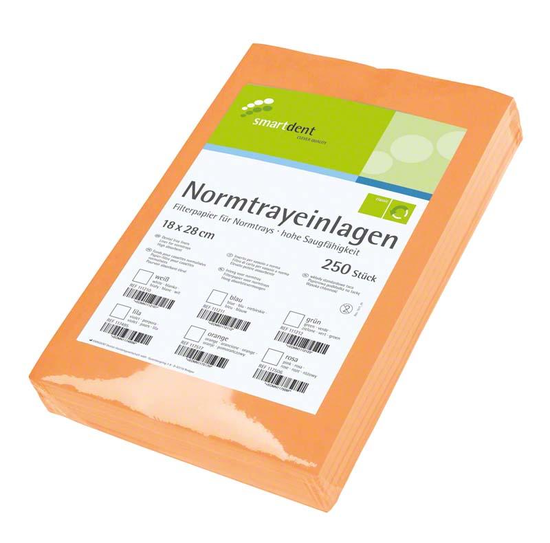 smart Normtrayeinlagen  Packung  250 Stück 28 x 18 cm, orange