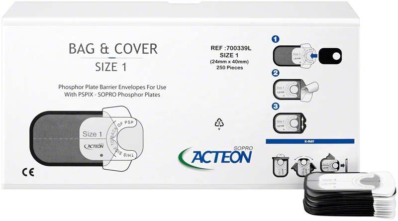 Biss-Schutzhüllen  Packung  250 Schutzhüllen Größe 1, 24 x 40 mm