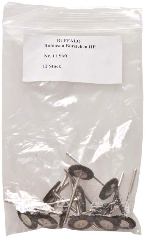 Abbott-Robinson-Bürsten  Packung  12 Stück Nr. 11, Soft