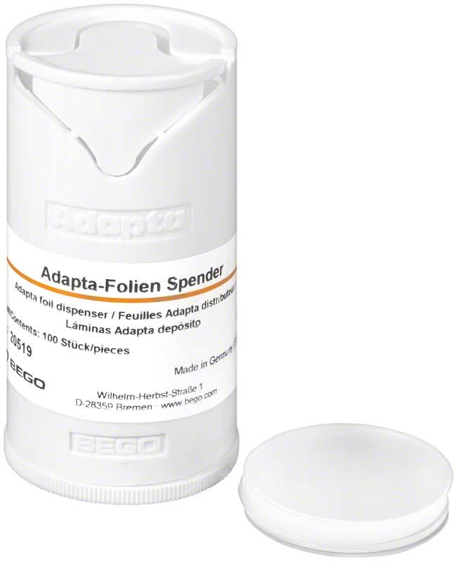 Adapta  Packung  1 Folienspender, 100 Adapta-Folien 0,6 mm