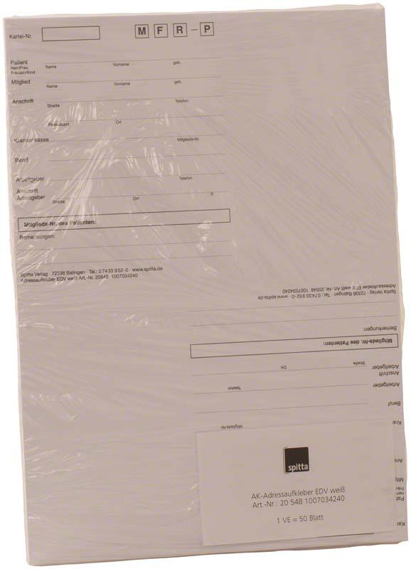 Adressaufkleber EDV  Packung  50 Stück weiß