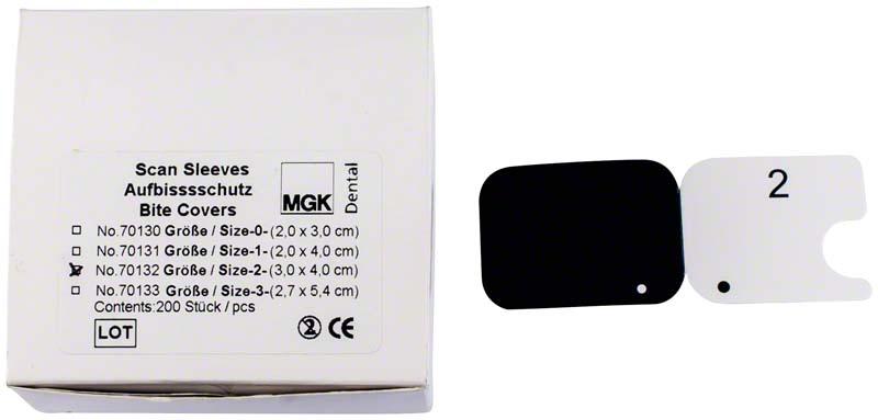 Aufbissschutz für Scan Sleeves \ TABLine Sleeves  Packung  200 Stück Gr. 2 (3 x 4 cm)