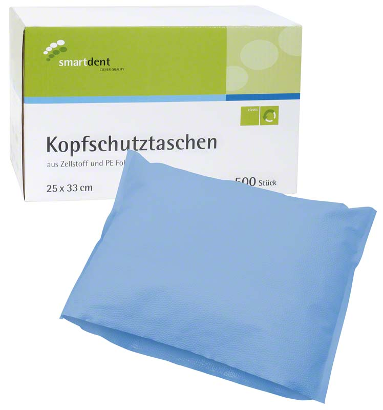 smart Kopfschutztaschen  Karton  500 Stück 25 x 33 cm, blau