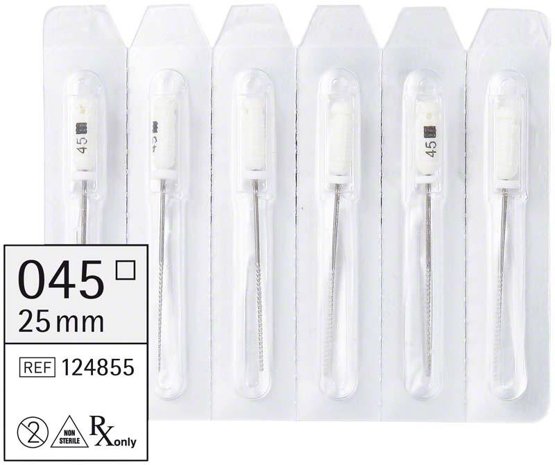 smart K-Feilen  Packung  6 Stück 25 mm ISO 045
