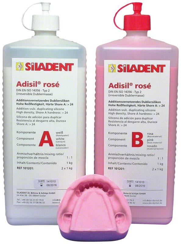 Adisil® rosé  Packung  1 kg Flasche A, 1 kg Flasche B, 9:1