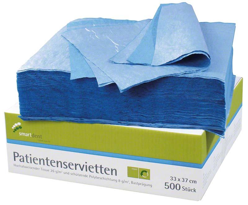 smart Patientenservietten  Packung  500 Stück blau