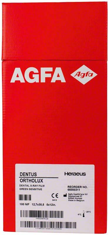 AGFA DENTUS® ORTHOLUX  Packung  100 Stück 12,7 x 30,5 cm