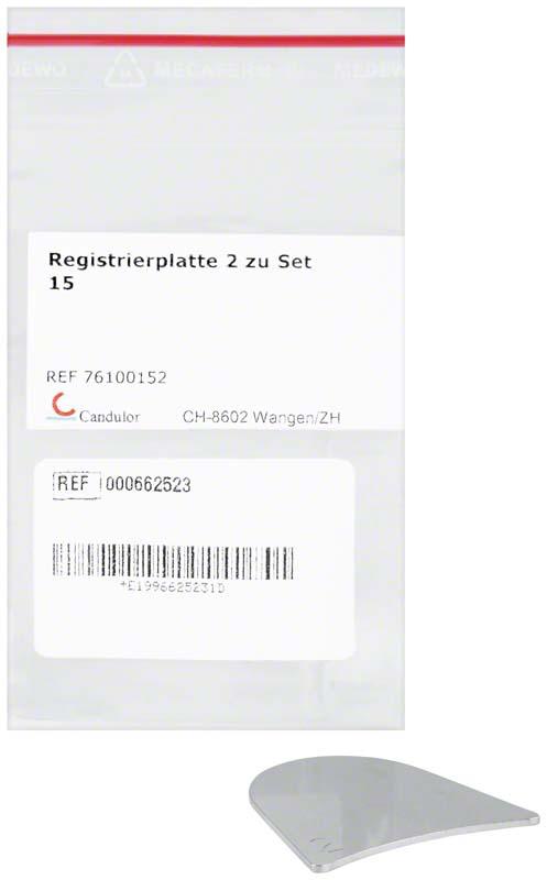 Registrierplatte 2 z.Set15 St