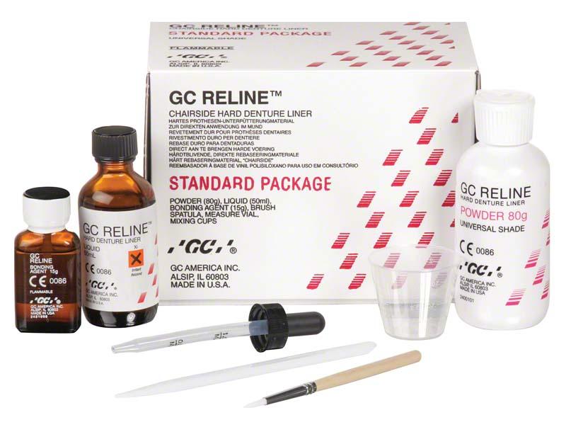 GC RELINE™  Einführungspackung  80 g Pulver rosa universal, 50 ml Flüssigkeit, Zubehör