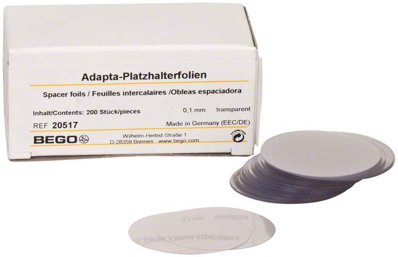 Adapta  Packung  200 Adapta-Platzhalterfolien transparent, 0,1 mm
