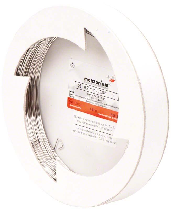 CHROMIUM Spulendraht  Klinikpackung  500 g  Stärke 0,7 mm, federhart