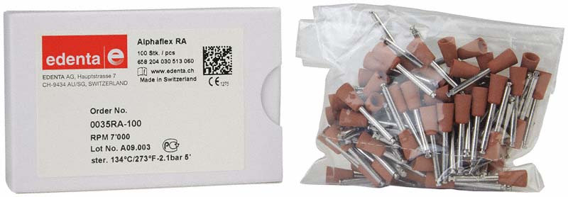Alphaflex  Packung  100 Stück braun, RA, Figur 030, 10 mm, ISO 060