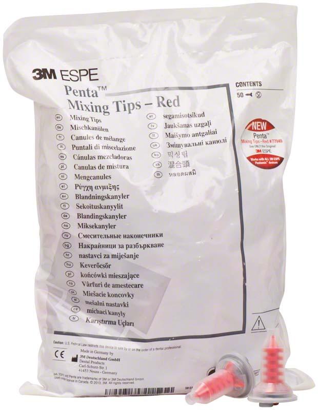Penta Mischkanülen  Packung  50 Stück rot